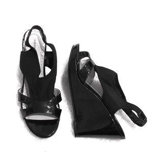 Adrienne Vittadini slingback wedges sandals 7.5